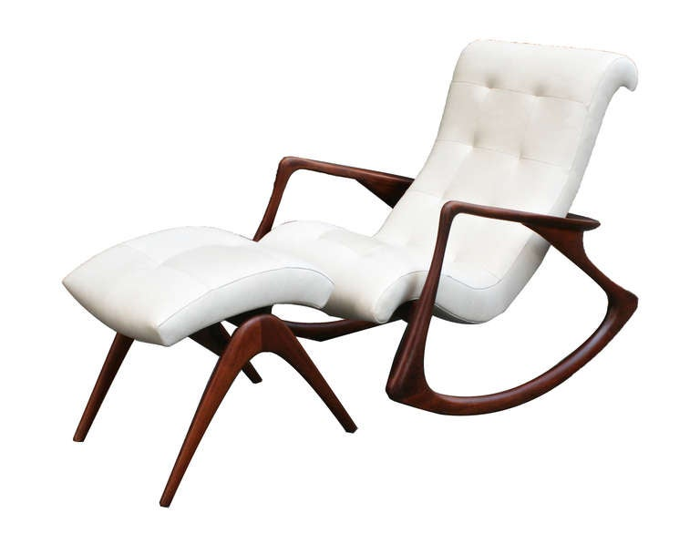This Rocking Chair and Ottoman by Vladimir Kagan. c. 1950s is no ...