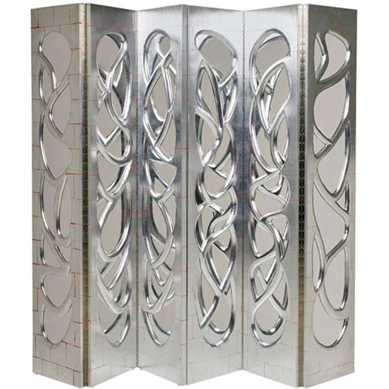 Pair of Silvered-Walnut Mirrored Screens by Phillip Lloyd Powell, 2000 1