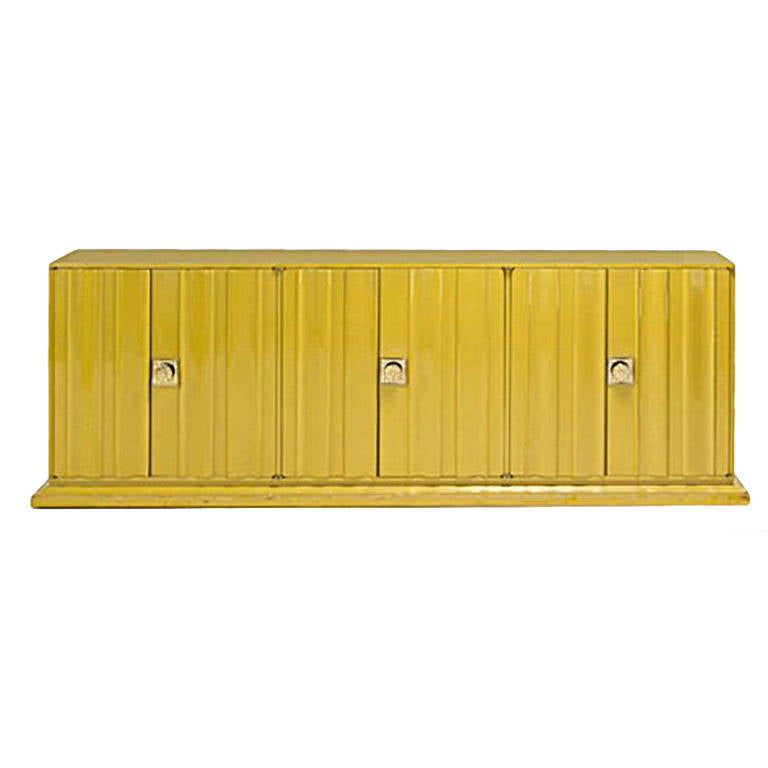 Tommi parzinger monumental lacquered cabinet usa circa for Sideboard lindholm