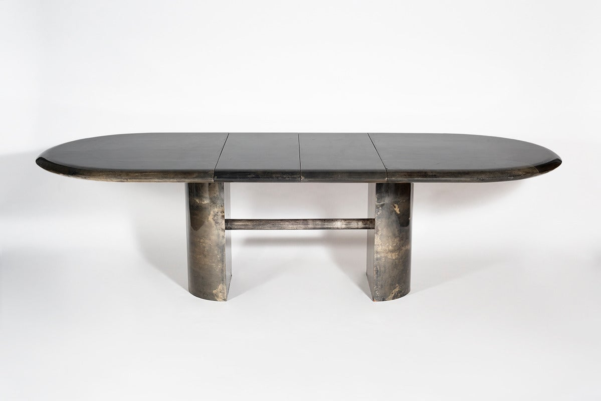 Aldo tura lacquered parchment dining table italy 1970s for 108 inch dining table