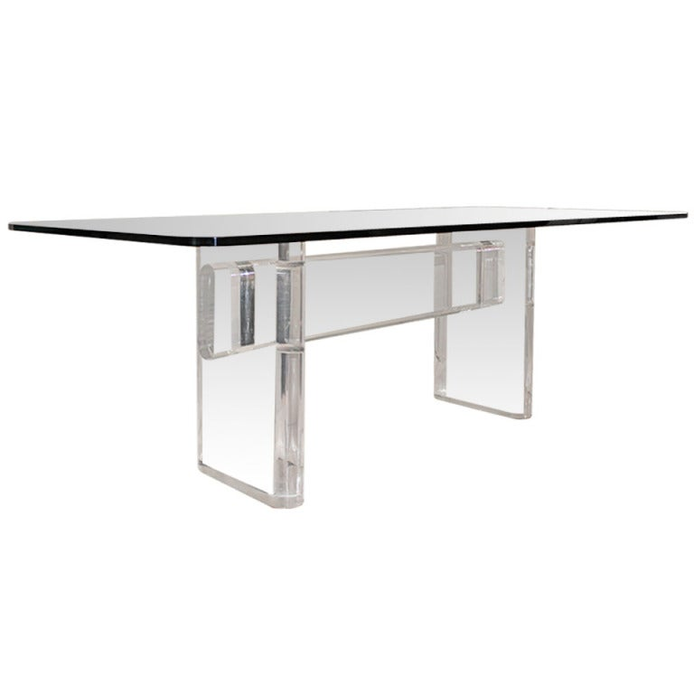 Lucite Dining Room Table: Lucite Dining Table By Karl Springer, USA, C. 1980s At 1stdibs
