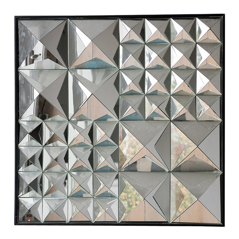 Verner Panton Wall-Mounted Mirror Sculpture, USA, circa 1960s For Sale