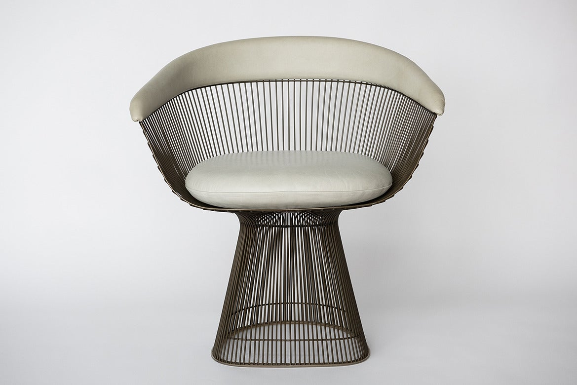 Warren Platner, Set of Six Bronze Dining Chairs, USA, 1960s For ...