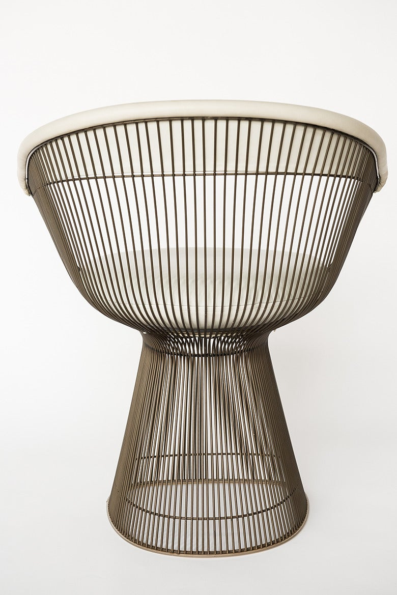 Warren Platner Set Of Six Bronze Dining Chairs USA