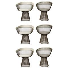 Warren Platner, Set of Six Bronze Dining Chairs, USA, 1960s