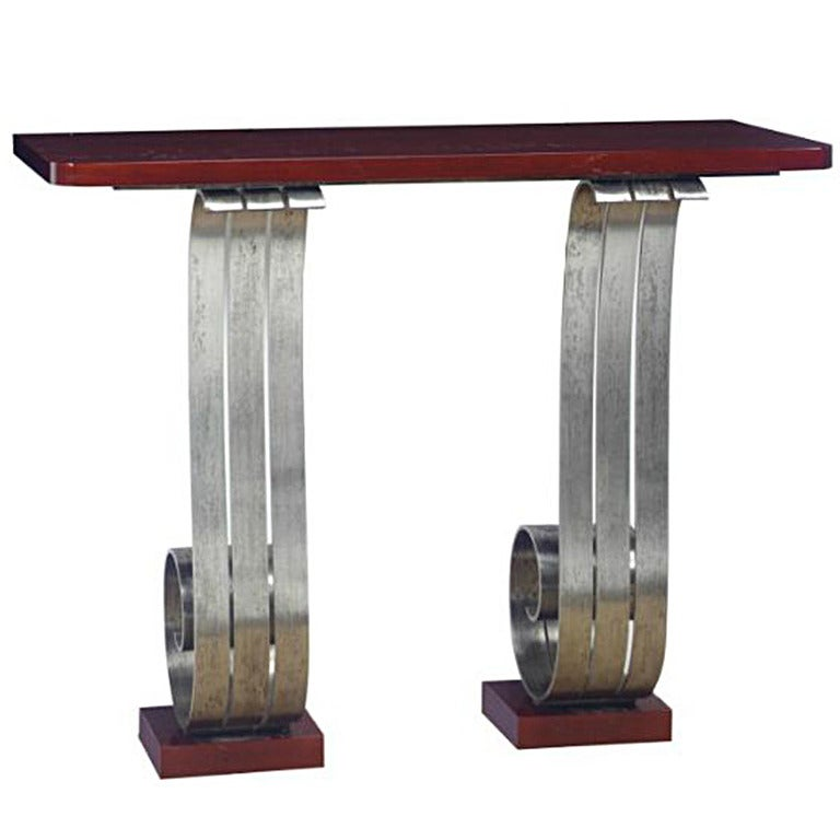 Art Deco Console in the Manner of Raymond Subes