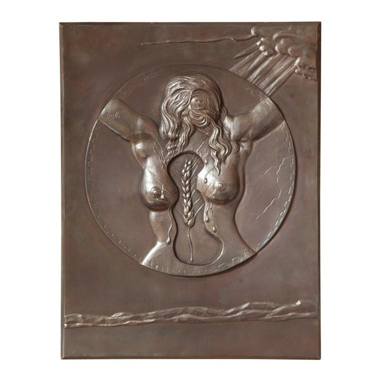 Dali Bronze Bas-Relief Fécondité