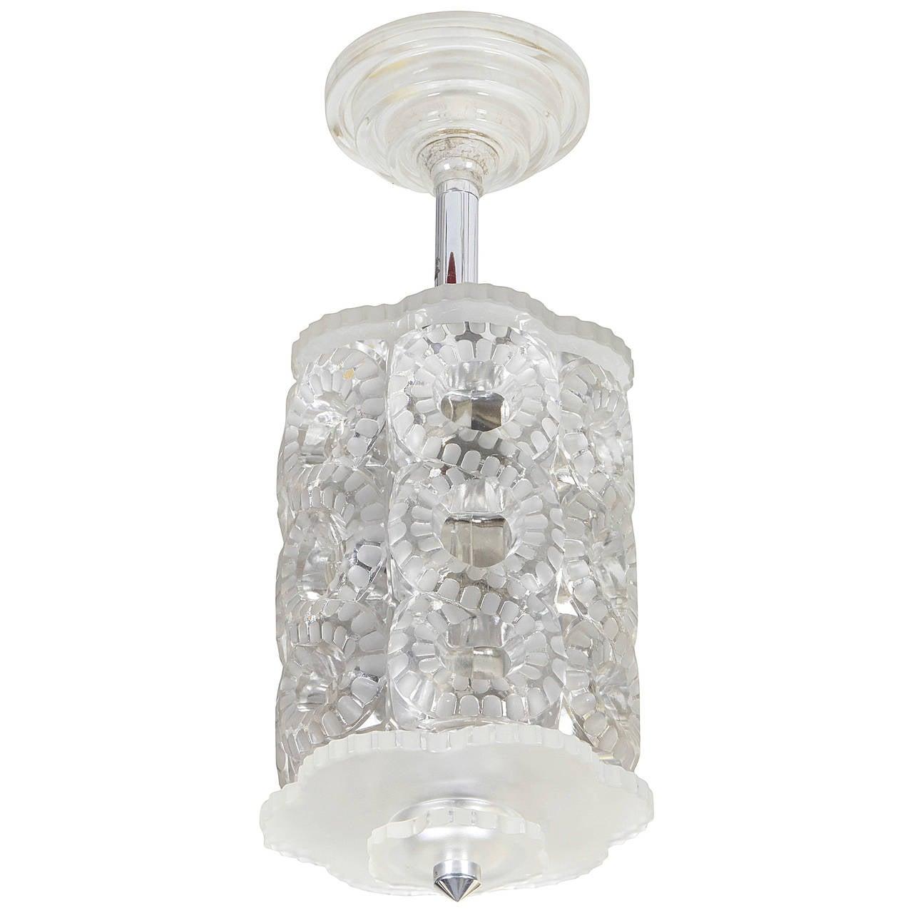 "Lalique Chandelier ""Seville"" For Sale"