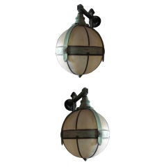 Pair of Bronze  Wall Sconces in the style of Hastings