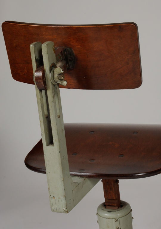Wooden drafting stools at stdibs