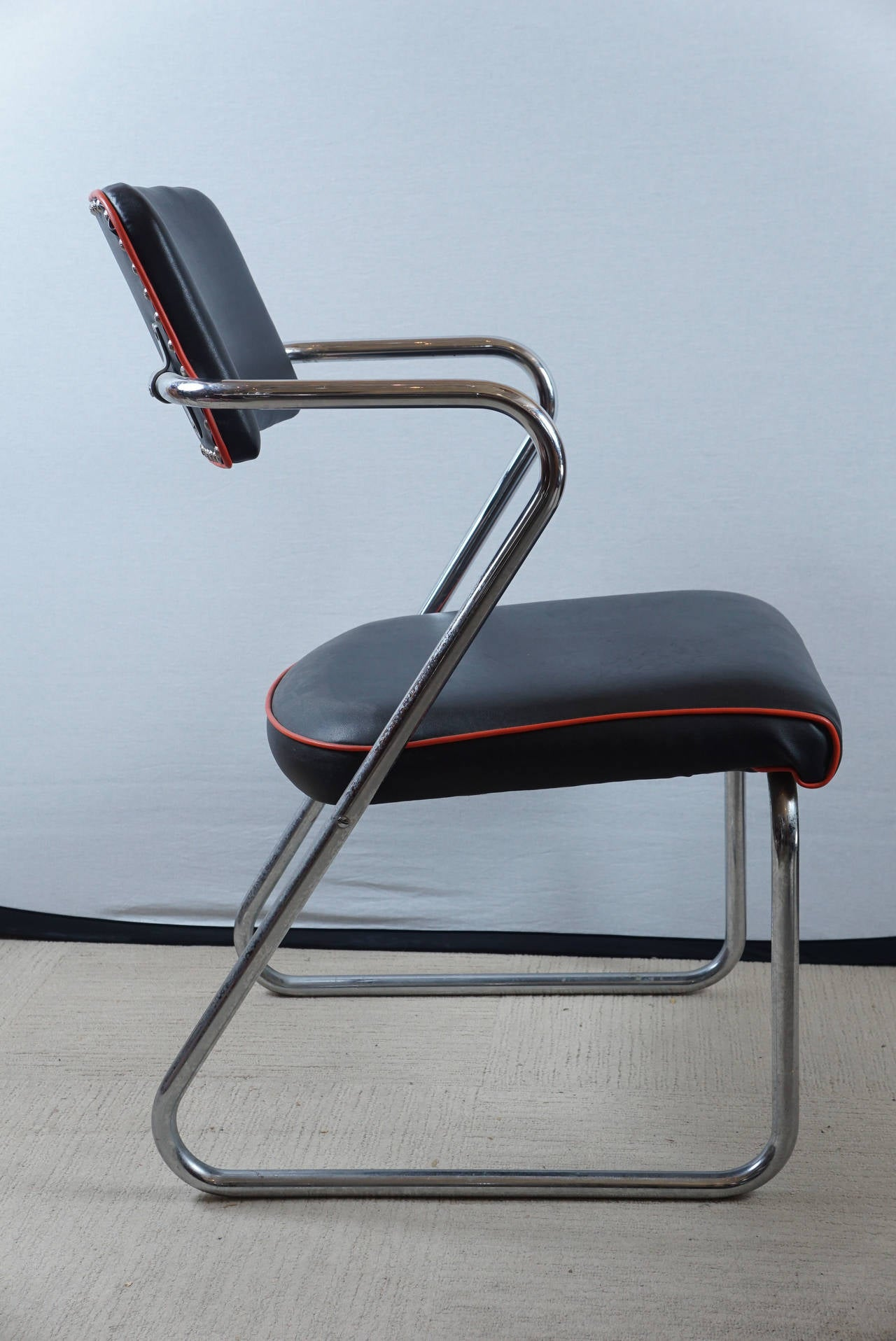 Mid Century Modern Pair Of Royalchrome Z Chairs By Gilbert Rohde For Royal  Metal Co