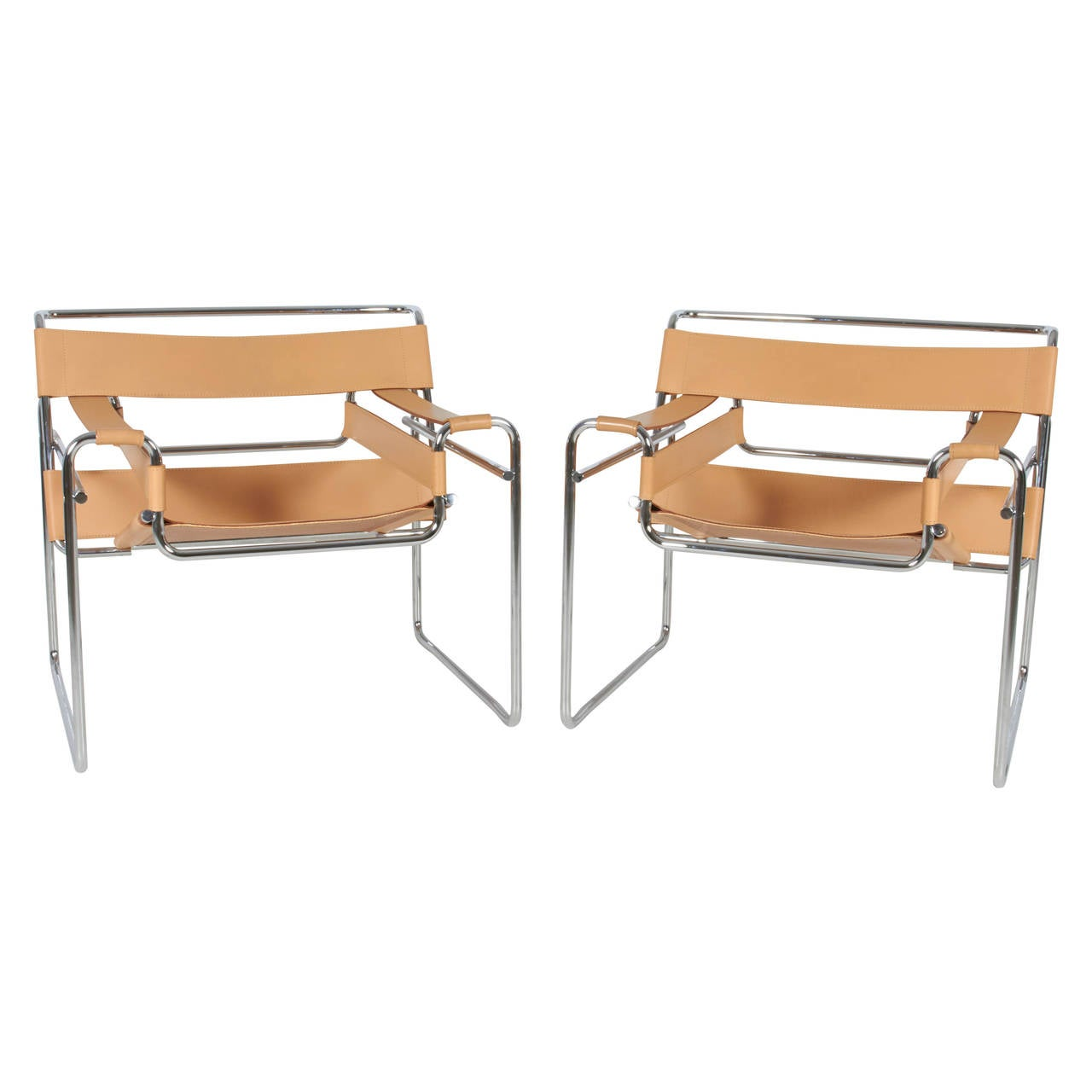 Vintage wassily chair by marcel breuer for knoll international for - Pair Of Wassily Chairs By Marcel Breuer At 1stdibs
