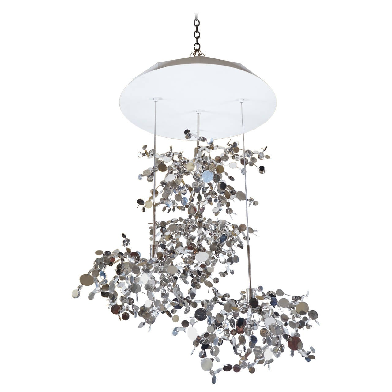 Dodo Arslan Argent with Four Elements Chandelier For Sale