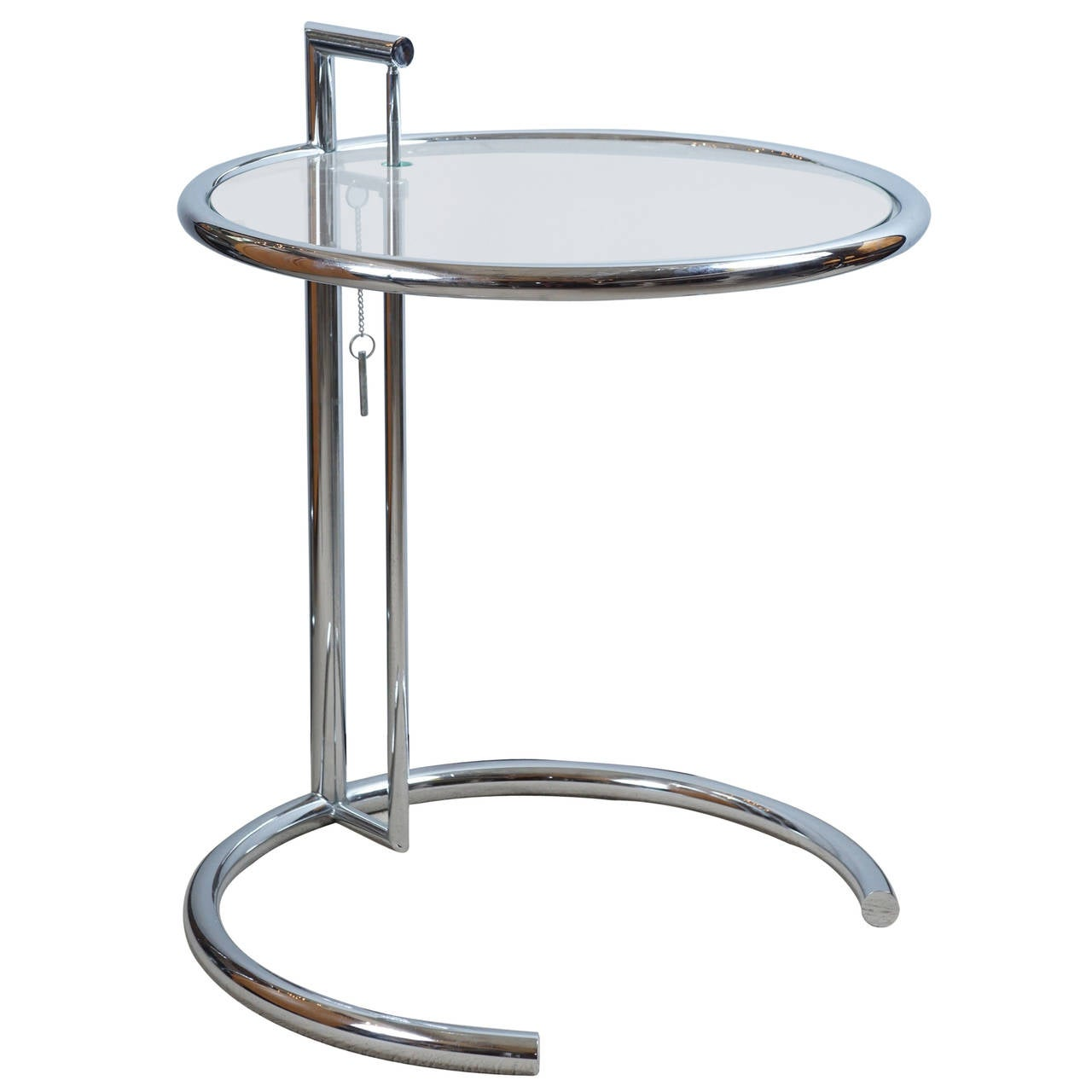 eileen gray chrome and glass table at 1stdibs. Black Bedroom Furniture Sets. Home Design Ideas