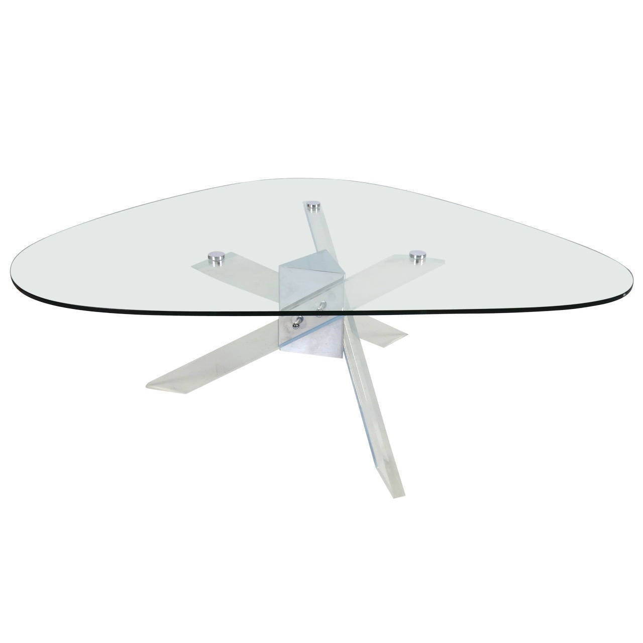Lucite and Chrome Coffee Table 2