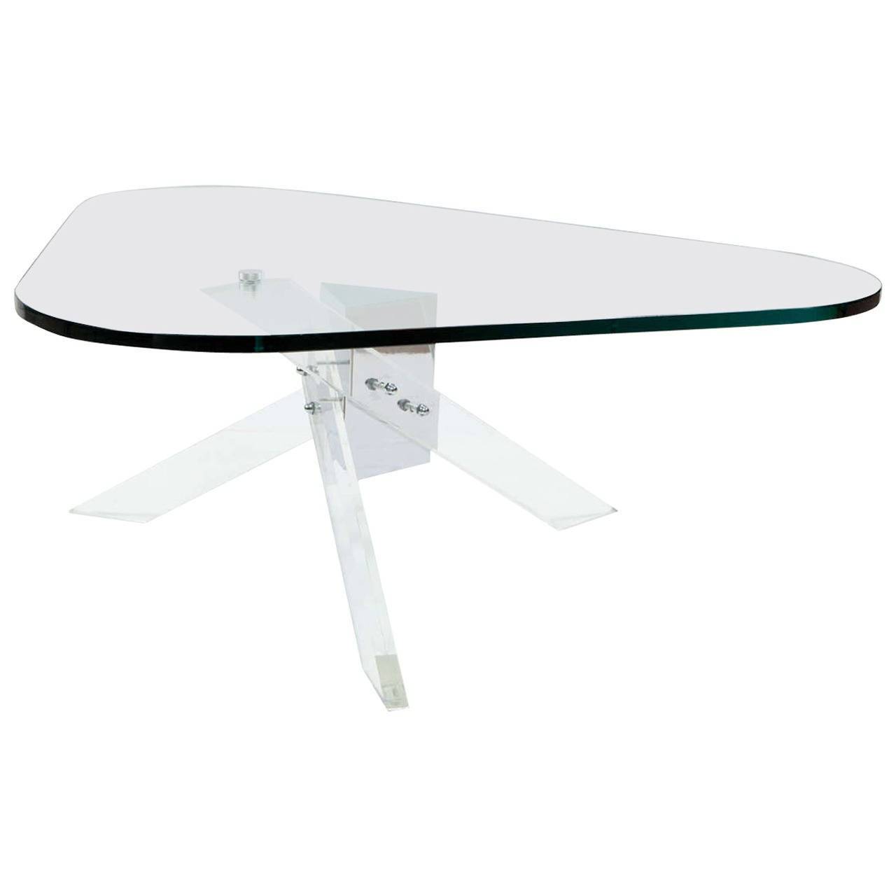 Lucite and Chrome Coffee Table 1