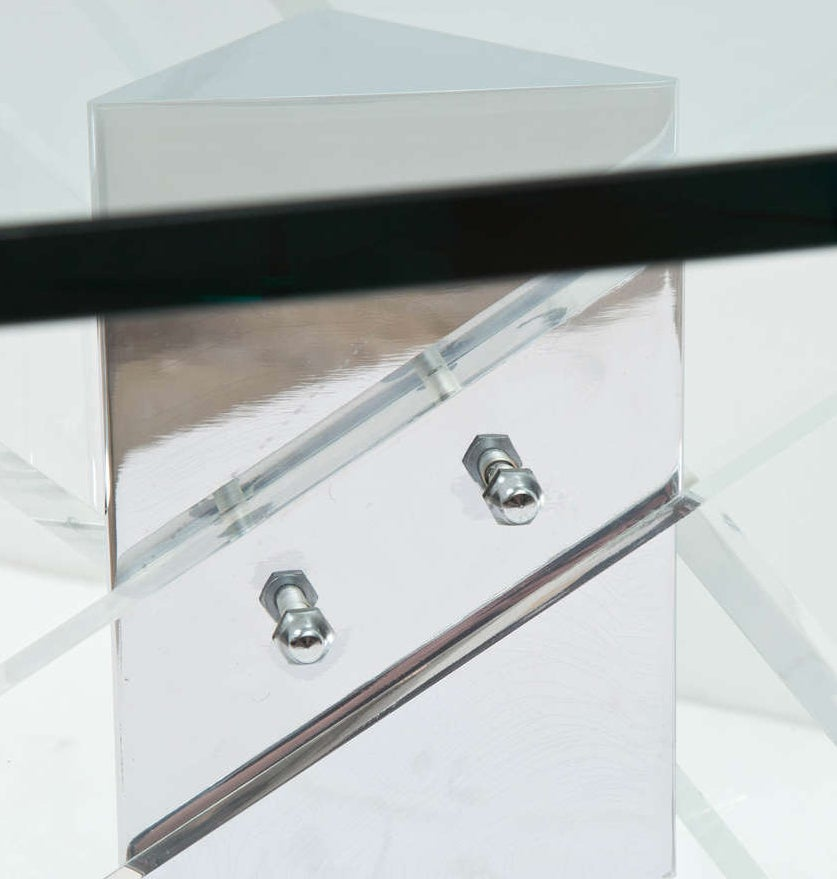 Lucite and Chrome Coffee Table 4