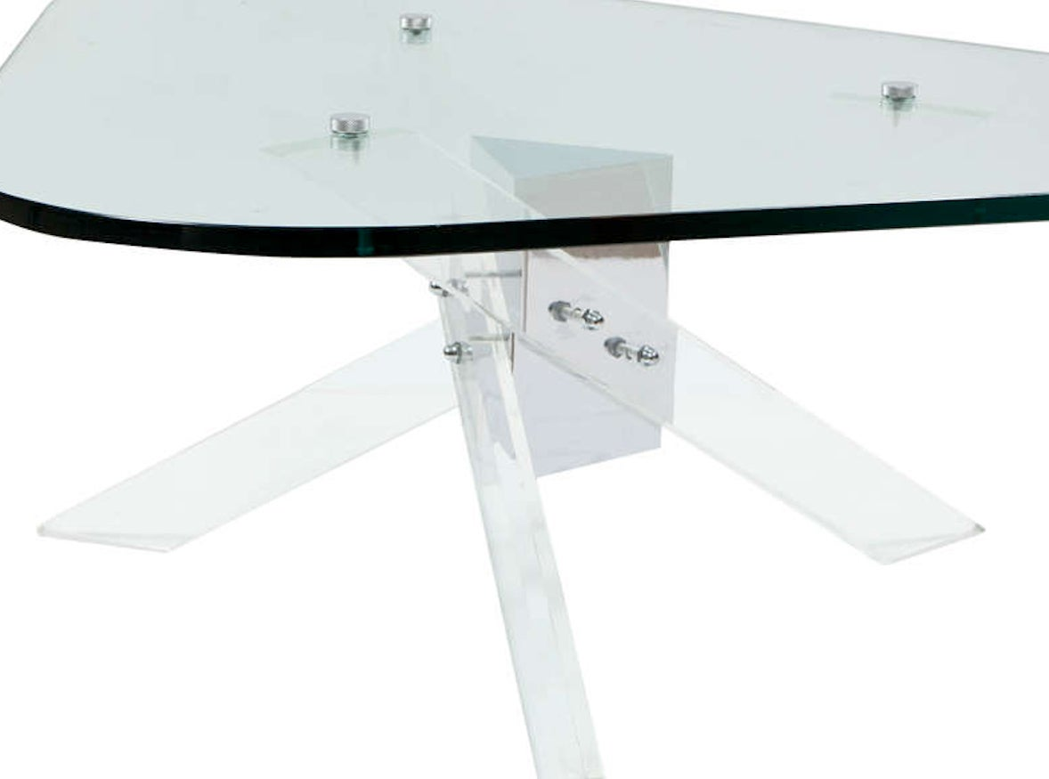 Lucite and Chrome Coffee Table 3