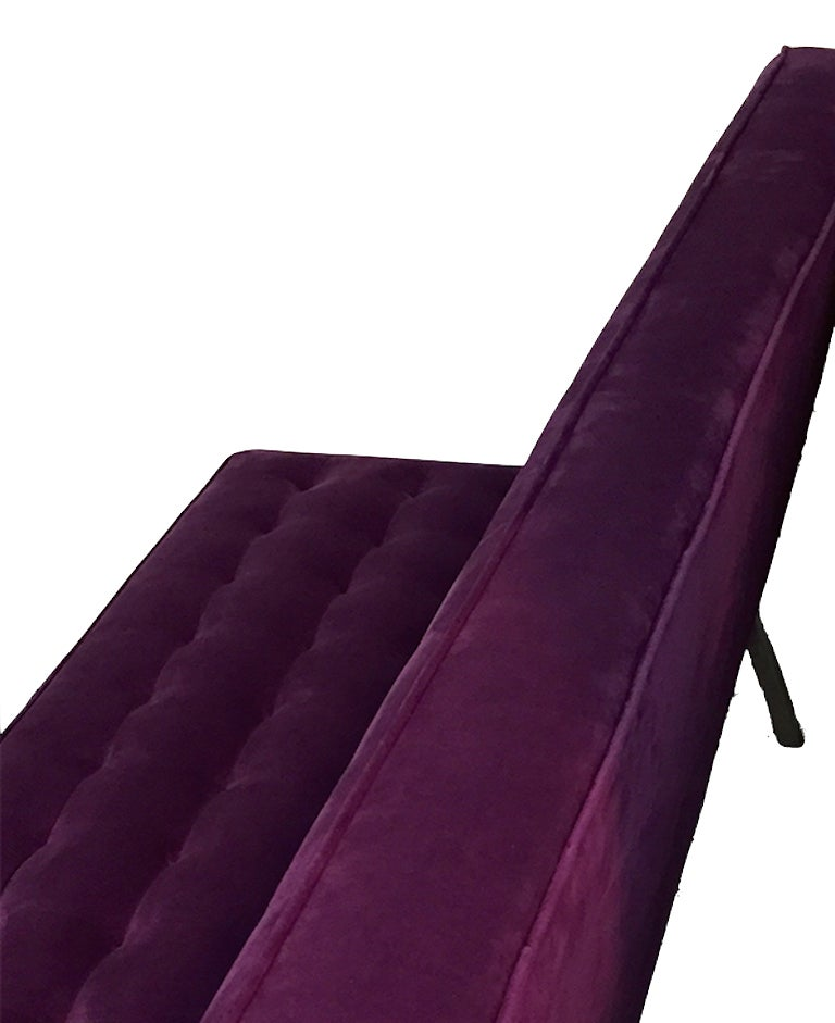 Knoll Inspired Chrome Framed Sofa 4