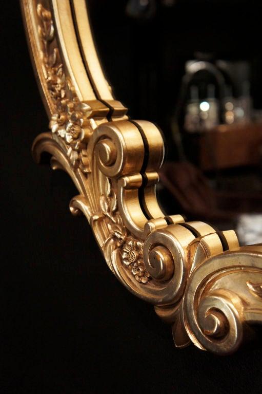 Hollywood Rococo Gilt Mirror 4