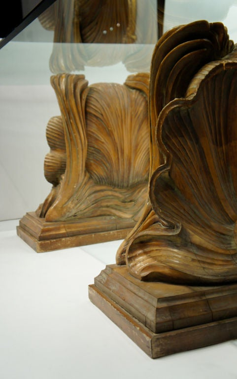 Beaux arts carved wooden shells at stdibs