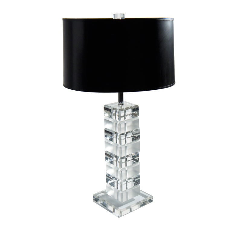 Lucite Table Lamp: Lucite Table Lamp 1,Lighting