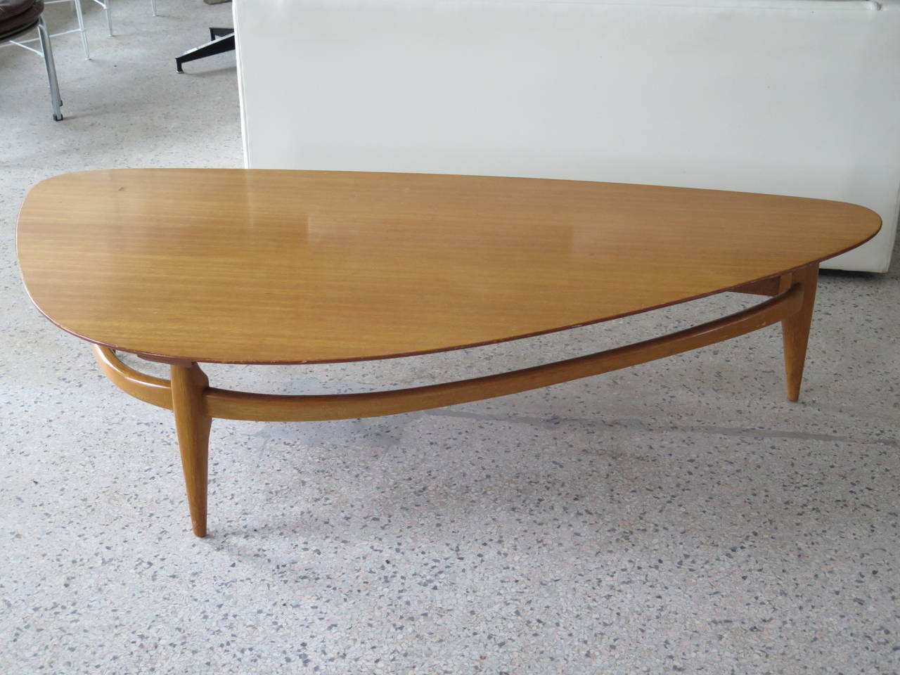 Biomorphic Coffee Table John Keal For Brown Saltman Biomorphic Coffee Table At 1stdibs