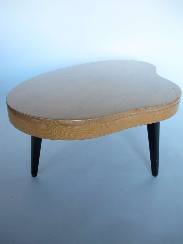 Unusual biomorphic coffee table with drawer at 1stdibs for Coffee tables quirky