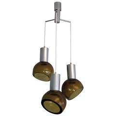 Seguso Chandelier Amber Colored Glass