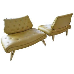 Pair of Elegant Hollywood Regency Settees