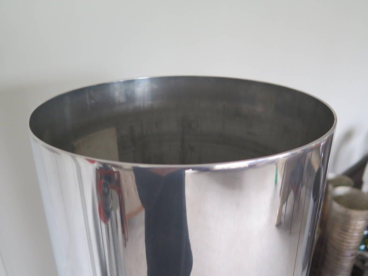 Unusual Polished Aluminum Tubular Floor Lamp 4