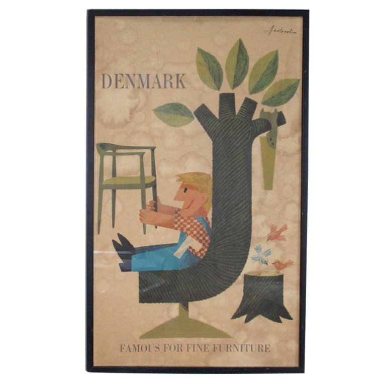Denmark Wegner Furniture Poster by Antoni