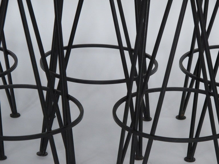 A Set Of Classic Wrought Iron Barstools At 1stdibs