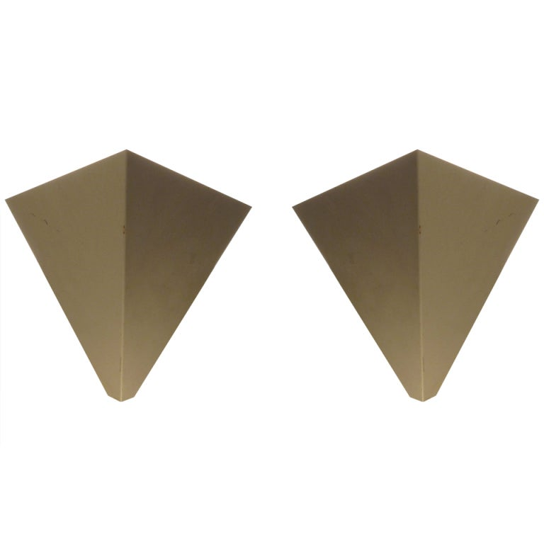 A Pair of Minimalist Sconces by Anvia Holland