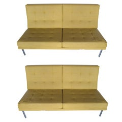 A Pair of Knoll Parallel Bar Settees