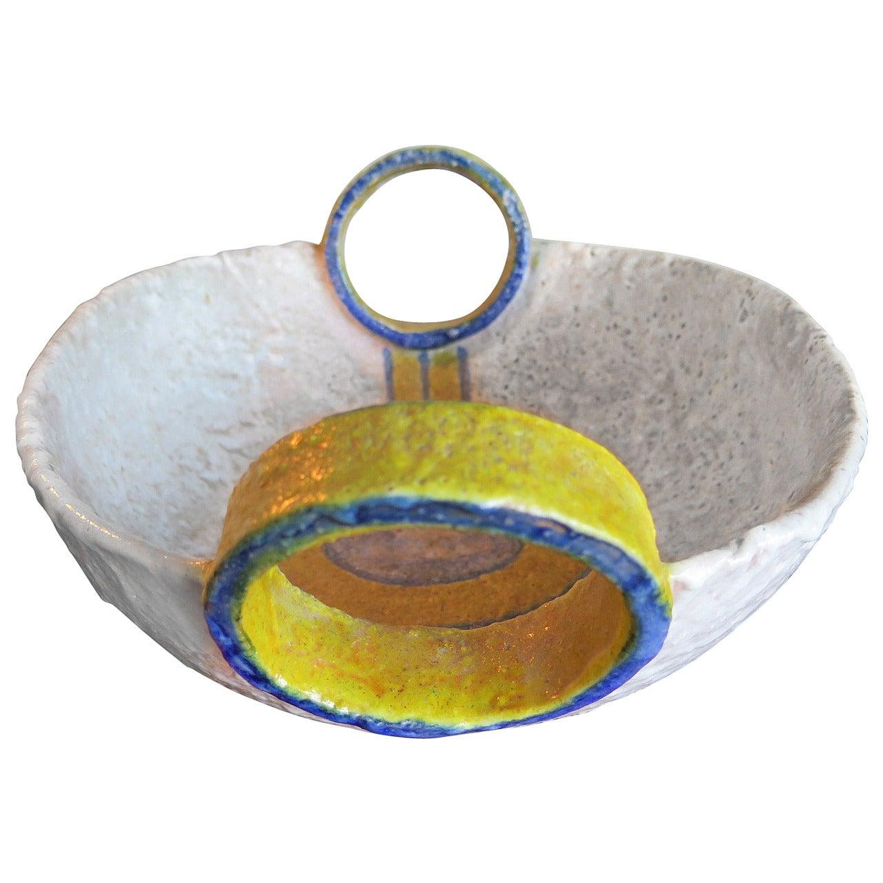 Unusual Ceramic Vessel by Raymor, Italy