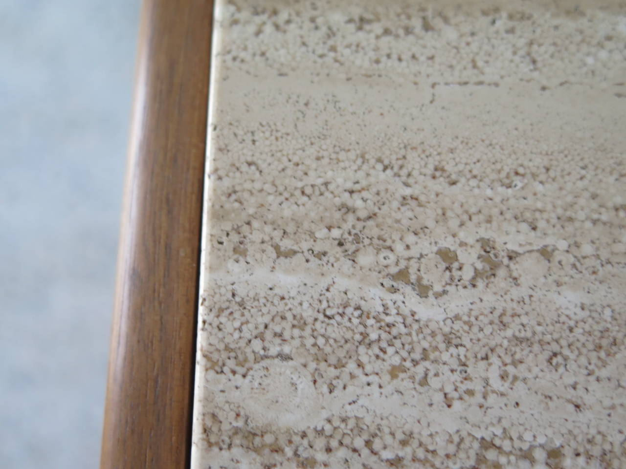 Gerry Zank for Gregori Credenza with Travertine Top In Good Condition For Sale In St.Petersburg, FL