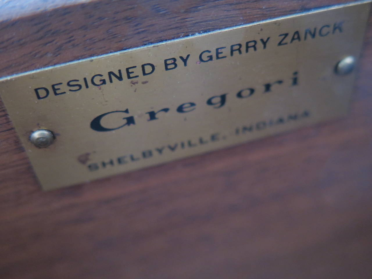 Gerry Zank for Gregori Credenza with Travertine Top For Sale 1