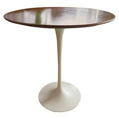 Knoll Saarinen Side Table with Walnut Top