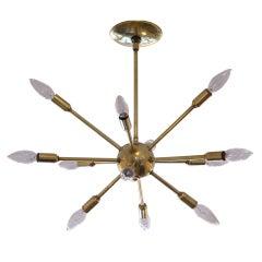 A Twelve Arm Lightolier Sputnik Chandelier