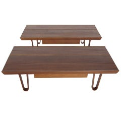 A Pair of Edward Wormley Dunbar Long John Benches