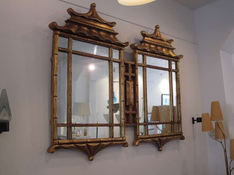 A Large Asian Style Decorative Mirror At 1stdibs