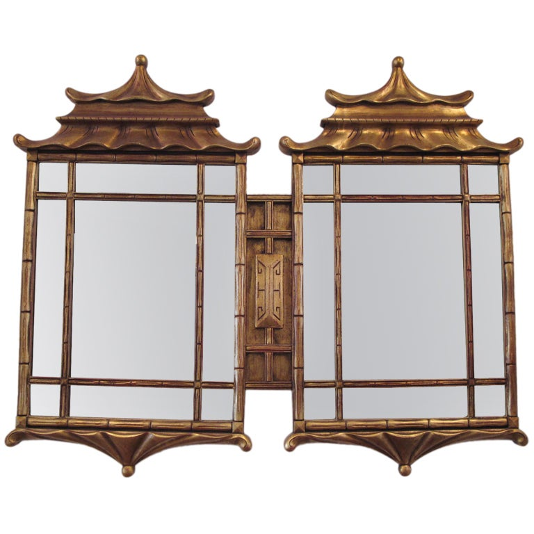A large asian style decorative mirror at 1stdibs for Large accent mirrors
