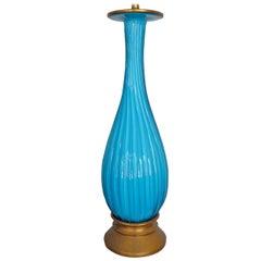 Classic Marbro Turquoise Venetian Lamp