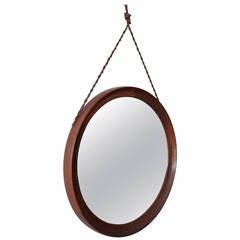 Round Rosewood Mirror by Uno & Osten Kristiansson