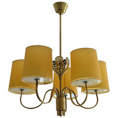 Paavo Tynell Five-Arm Chandelier