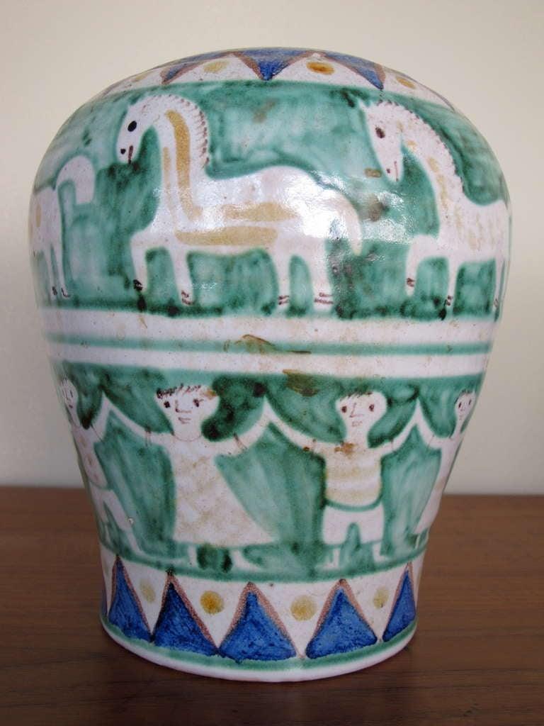 Mid-Century Modern C.A.S. Vietri Ceramic Vase For Sale