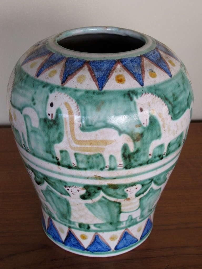 A charming ceramic vase by C.A.S. Vietri, Italy, ca'1950's.