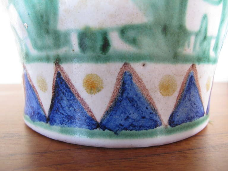 Mid-20th Century C.A.S. Vietri Ceramic Vase For Sale