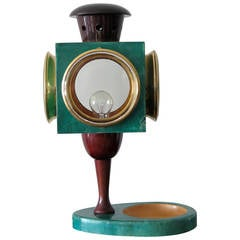 Aldo Tura Goatskin Lantern Lamp